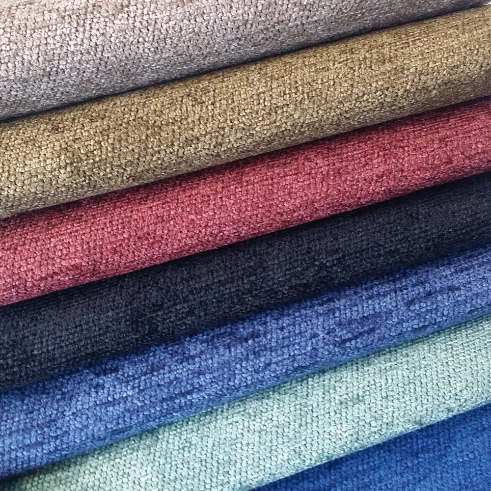 2016 Solid Plain Chenille Yarn Dyed Jacquard Woven Soft