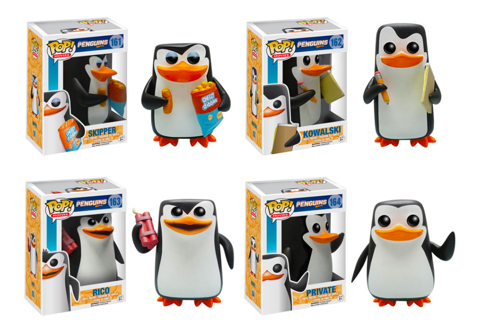 Original Funko pop Movie The Penguins of Madagascar Rico Skipper Figure Collectible Model Toy with Original box