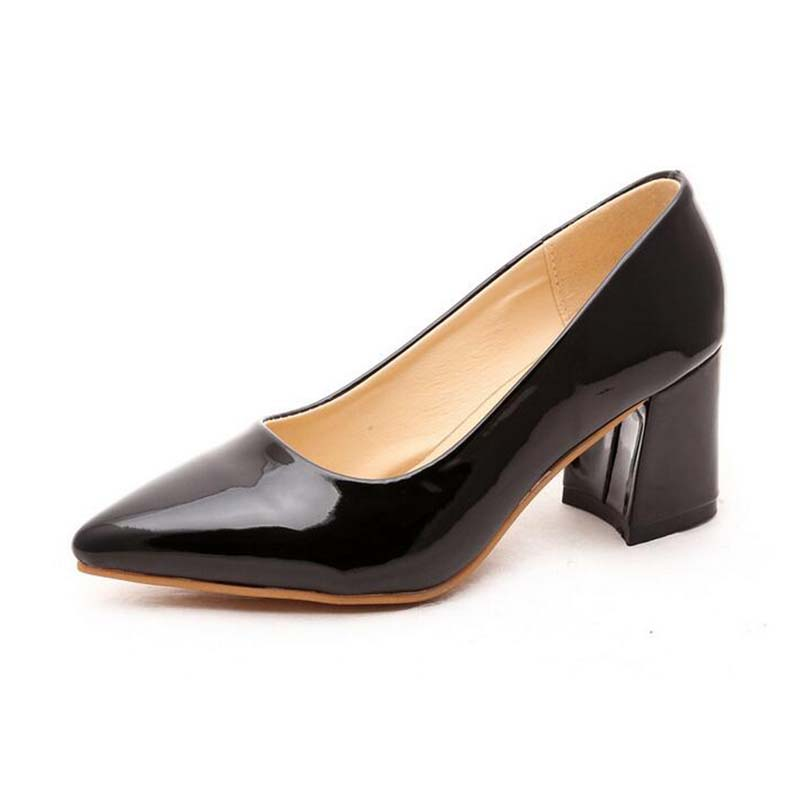 Awesome Kickwaynewfashionwomensliponsquareheelofficeshoeswomen