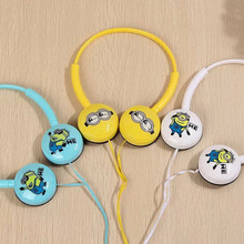 Stereo cute cartoon headphones for kids tablets,vacuum headphones big large for pc mobile phones Minions Headset iphone saumsung