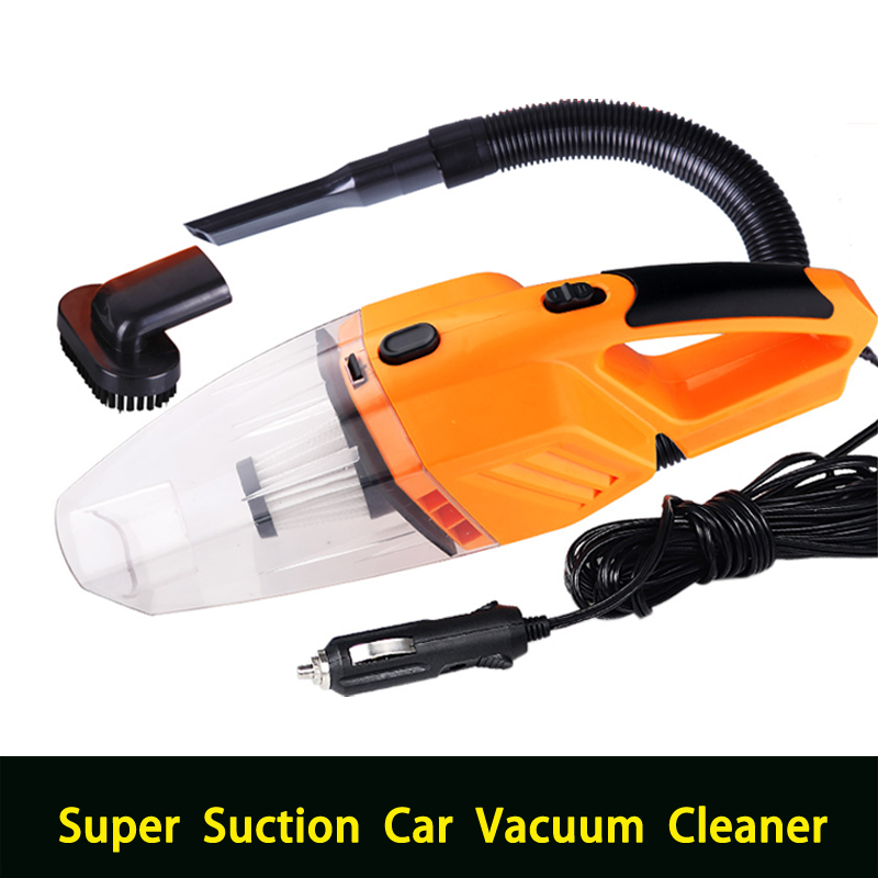 Multi-function Portable Car Vacuum Cleaner wet and dry dual use with power 120W 12V 5m of cable, LED lighting(China (Mainland))