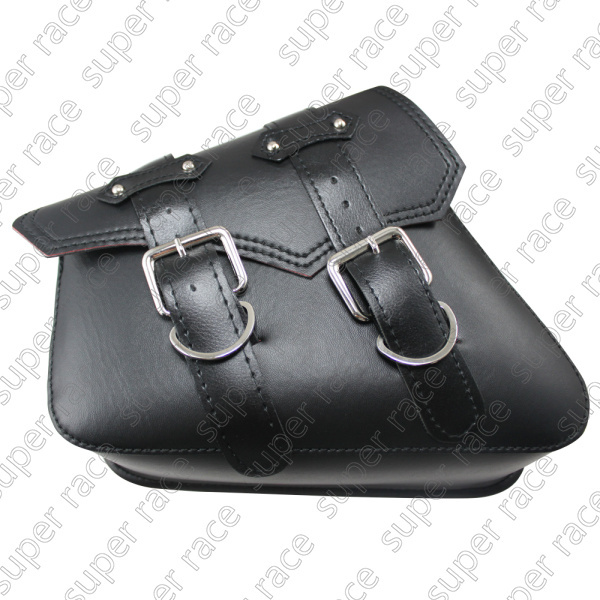 Black Motorcycle PU Leather Side Bag Saddle Bags F Harley Sportster XL883 XL1200(China (Mainland))