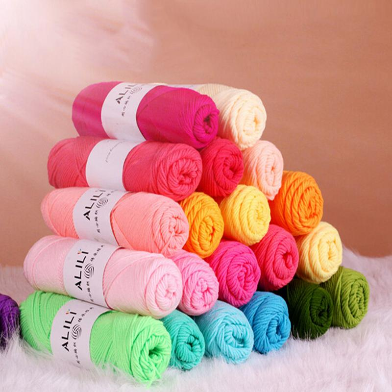 Wholesale Bamboo Baby Soft Yarn Crochet Cotton Knitting Milk Cotton Yarn Knit...