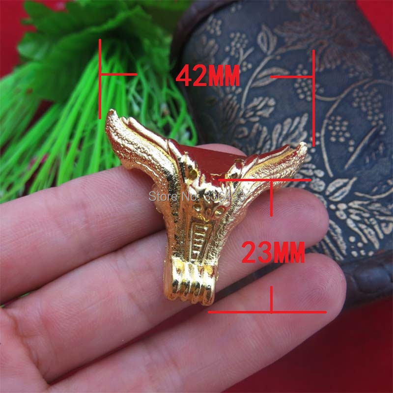 42 * 23MM imitation gold alloy foot / foot wooden furniture Gift sides foot care / bat feet(China (Mainland))