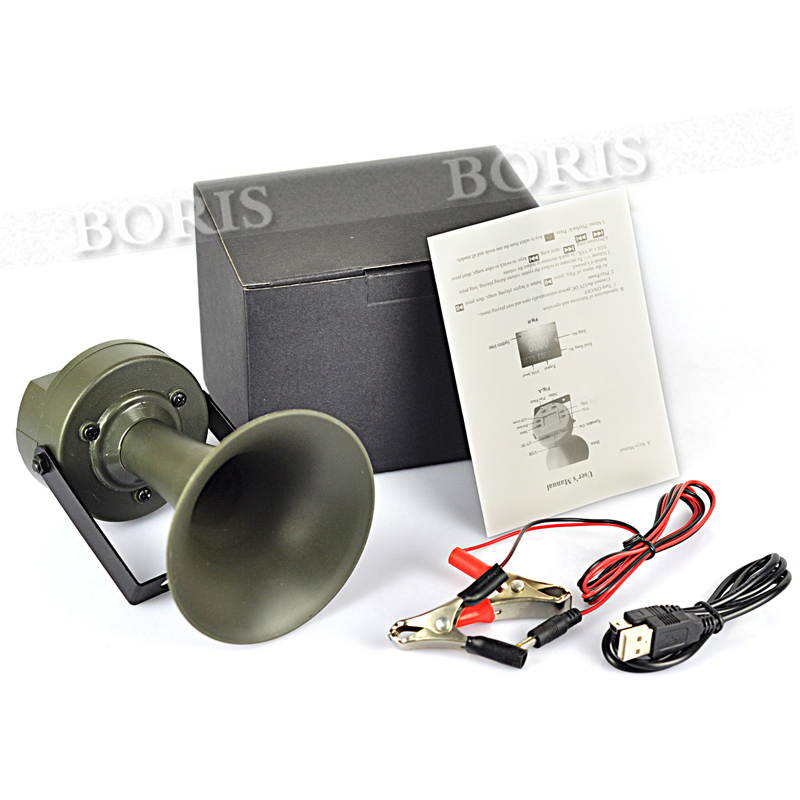 Outdoor hunting Bird Caller mp3 Louder Speaker Decoy Built-in 182 Sound 130dB 182 Built-in 182 bird sounds Green(China (Mainland))
