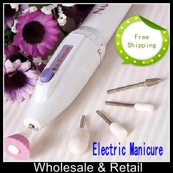 Free shipping salonShaper Electric nail salon workers repaired fingers electric grinding armour Manicure As Seen On TV(10pcs)