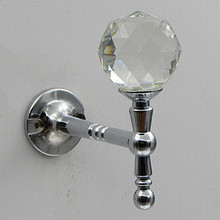 Creative Fashion clear Crystal Wall Decorative Hardware Hooks Silver Gold Diamond clothes curtain cap home clothes shop hooks(China (Mainland))