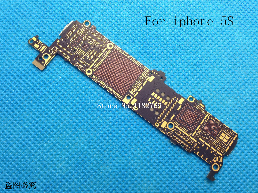10pcs/lot New Motherboard Main Logic Bare Board For iPhone 5S 5GS Repair circuit test free shipping(China (Mainland))
