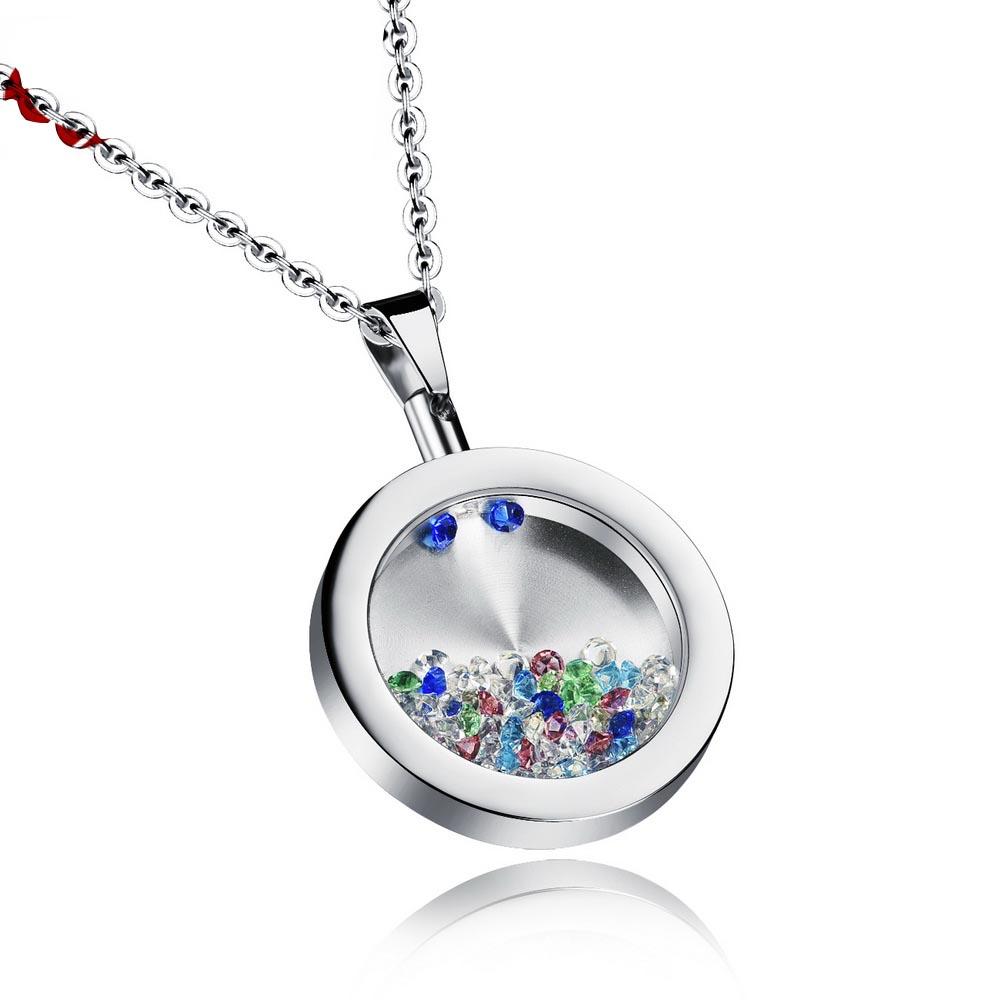 Unisex Wishing Bottle Pendant Romantic Stainless Steel Round Pendants & Necklaces Free Link Chain Fashion Jewelry GX1059TYA(China (Mainland))