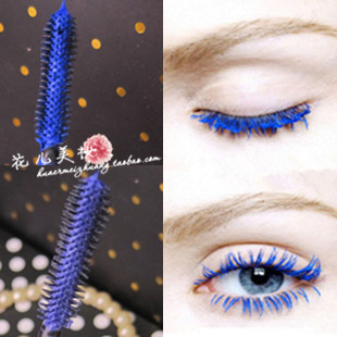Flowers multicolour mascara eyeholes ldquo . rdquo . blue brown purple mascara
