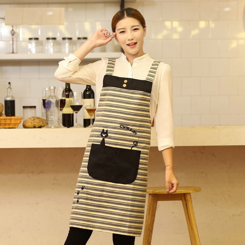 HOT SALE Cute Funny Fashion Bib aprons for men and women chef restaurant working kitchen coffe tea shop stylish pinafore apron(China (Mainland))