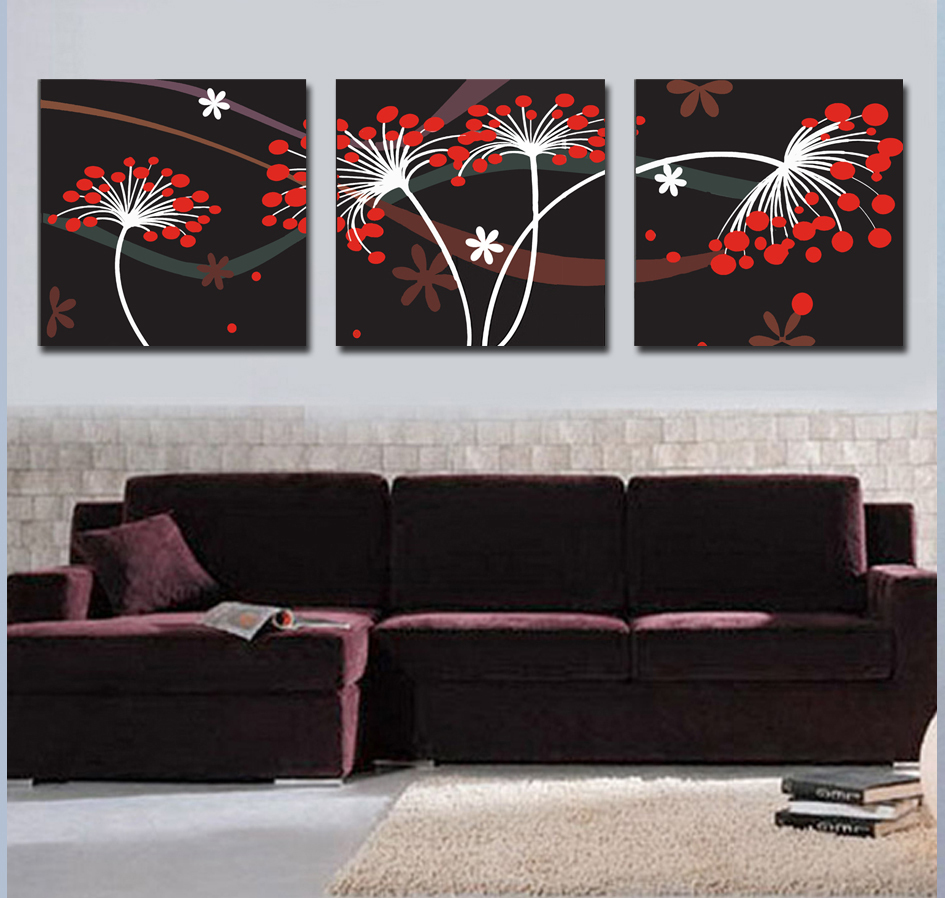 free shipping 3 piece art sets abstract tree wall decor. Black Bedroom Furniture Sets. Home Design Ideas