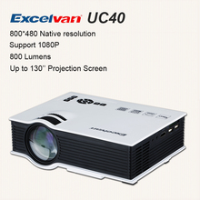 Hot Sale Excelvan UC40 Portable LED Projector Home Theater Multimedia Video Projector PC USB SD AV HDMI With Free HDMI Cable