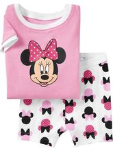 fashion new girls minnie cartoon cotton sleepwear children pijamas kids pajamas 2-7 ages clotihes - fashion&baby's store
