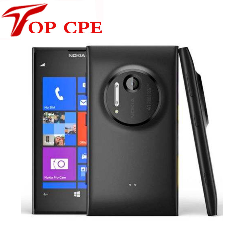 "Original Nokia Lumia 1020 41.0MP Camra 32GB ROM 2G Brand mobile phone unlocked 4.5"" Touch screen Dual core WIFI Refurbished(China (Mainland))"