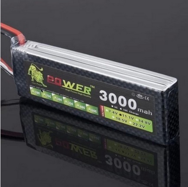 RC Transmitter Lipo Battery 11.1V 3000mAh High Capacity 25C Li-poly For RC Helicopter Battery Free Shipping()