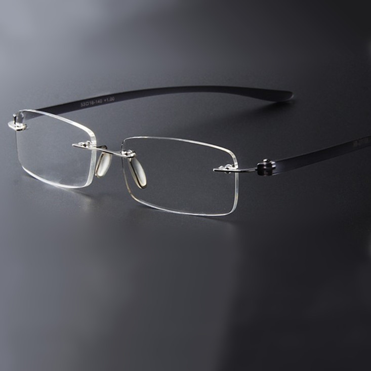 2015 Brand designer Vintage light Eyeglasses Rimless Frame ...
