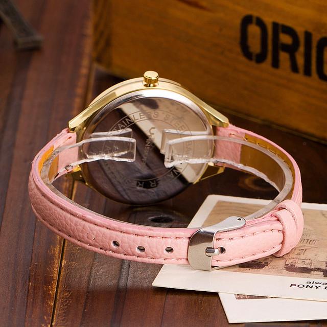 Zegarek damski GENEVA serduszka skórzana opaska kolory