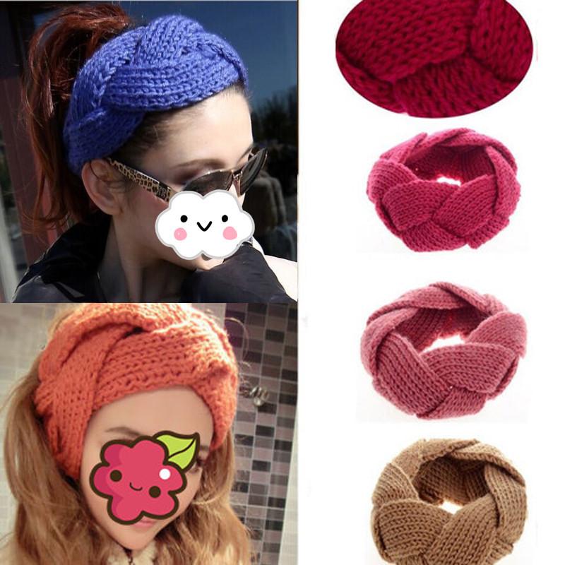 Hot Womens Hot Crochet Twist Knitted Headwrap Headband Winter Warmer Hair Band(China (Mainland))
