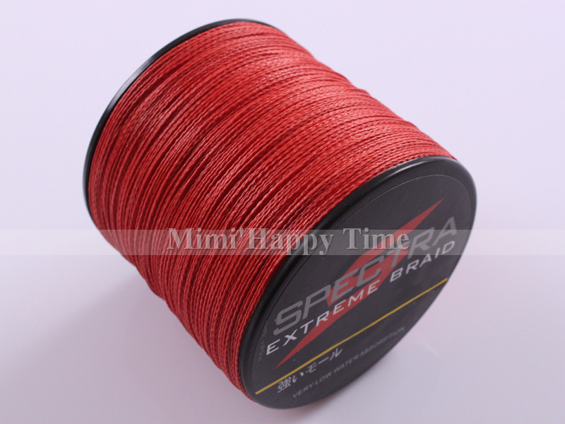 4 strands 500m 6lb 90lb red 100 pe braided fishing line for Bulk braided fishing line