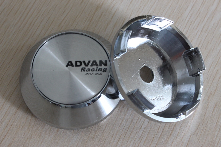 65mm Chrome Car Styling Japan ADVAN Racing Wheel Center Caps Hub Cap Covers - SIXTH POWER store