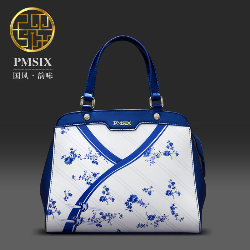 Luxury Chinese Style Designer brand Women Bags Flower Cheongsam Print Blue and white Quality Handbags 103106<br><br>Aliexpress