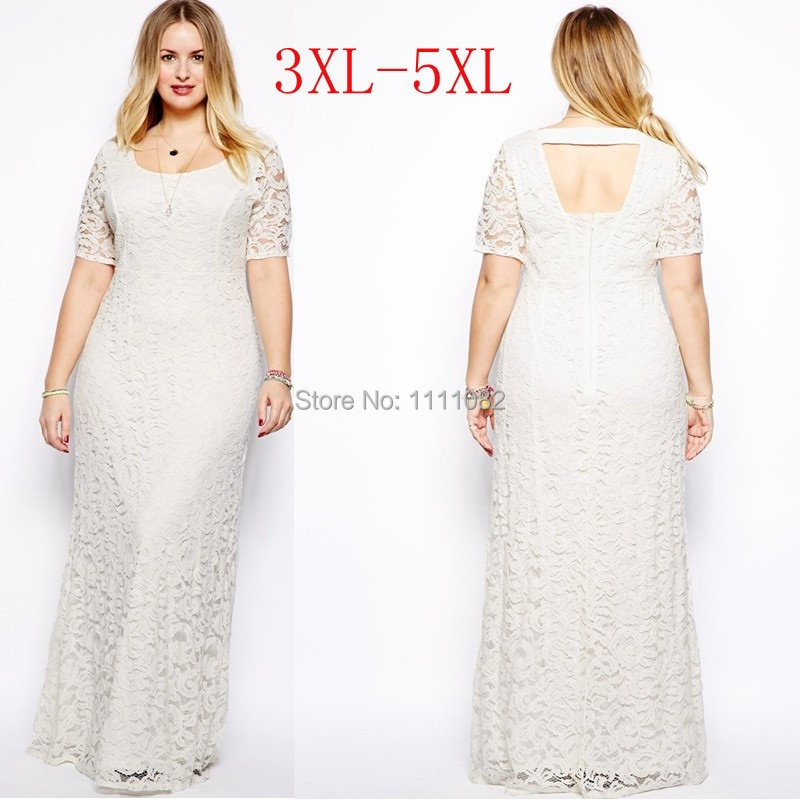 Maxi dress plus size ivory – Womans wallet and dresses