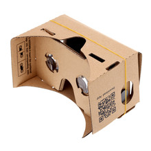 Excellent DIY Magnet Google Cardboard Virtual Reality VR Mobile Phone 3D Viewing Glasses For 5.0″ Screen Google VR 3D Glasses