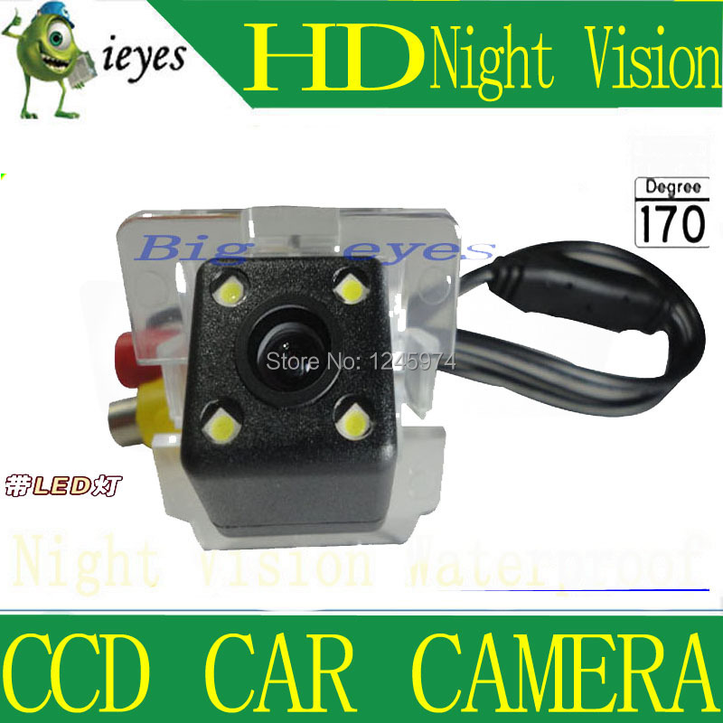 Free shipping HD CCD with 4 LEDs Car Rear View Reverse back up Camera for Mitsubishi Outlander(China (Mainland))