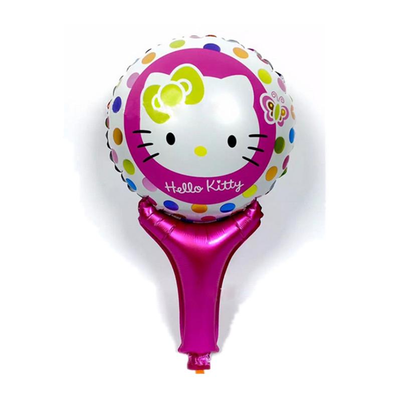 Бесплатная доставка 1 шт новый портативный kt cat мультфильм алюминиевые воздушные шары день рождения украшения воздушный