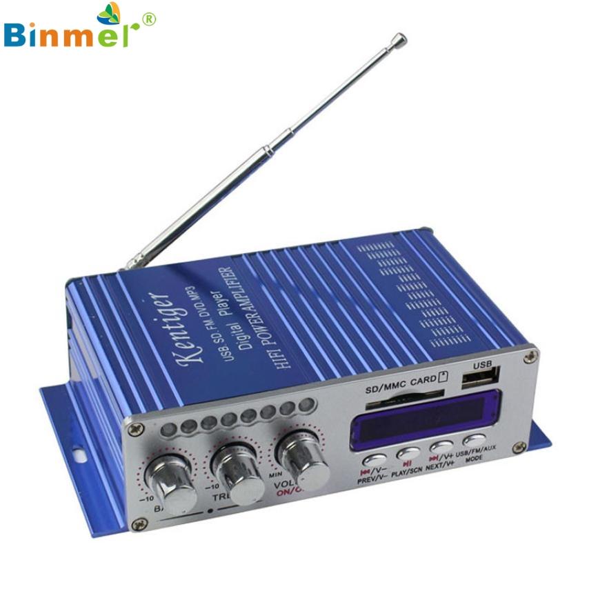 Binmer 2017 2CH 200W Power Mini HiFi Audio Stereo AMP Amplifier ipod Car Home MP3 FM BL AU29