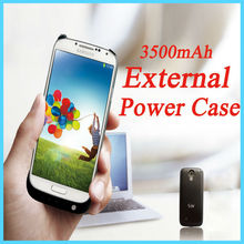 3500mAh Power Bank Case For Samsung Galaxy S4 SIV I9500 Black Power Charger Case External Battery Backup With Metal Stand Design(China (Mainland))