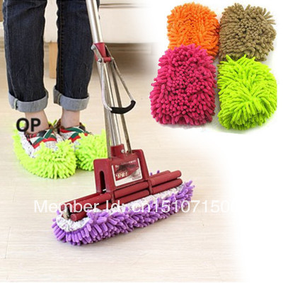 (Track Number) Free Shipping Lazy Dust Cleaner Slipper Shoes Cover House Bathroom Floor Cleaning Mop 7XjSX(China (Mainland))