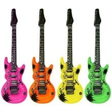 "Funny Inflatable Guitars Rock Roll 20"" Wedding Birthday Night Party Favors Rock Star Bulk KARAOKE(China (Mainland))"