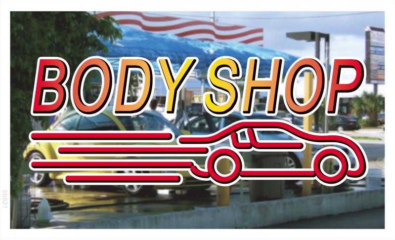 bb821 Car Auto Body Shop Banner Shop Sign Wholesale Dropshipping(China (Mainland))