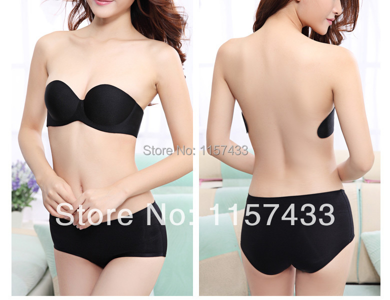 Women Self-Adhesive Push Silicone Underwire Bust Bras Strapless Invisible 8039 Cup A,B,C,D 8038 - OMT MALL store