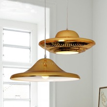 Modern Luxury Golden LED Pendant Light Flying Saucer UFO Shape Droplight Bedroom/Bar/Cafe Art Decorative Lighting Fixture(China (Mainland))