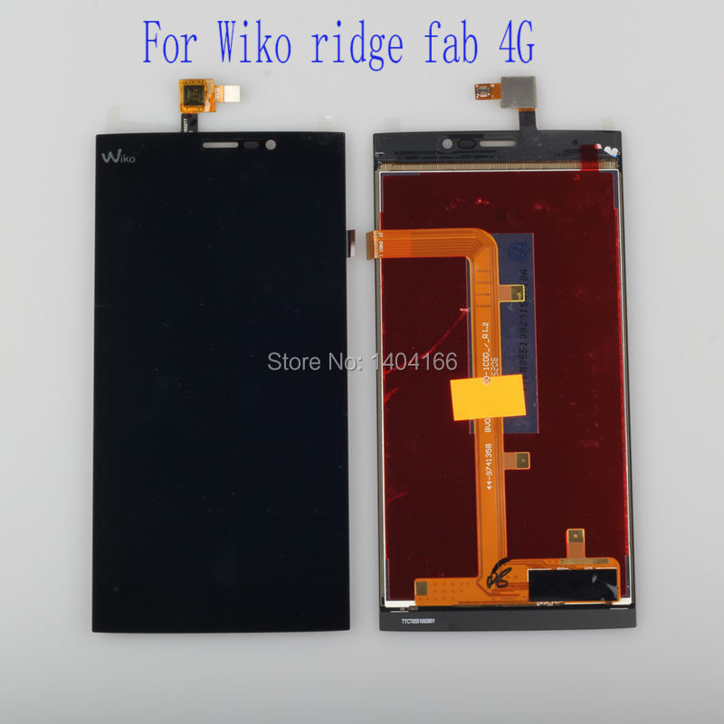 Original white/Black  Wiko Ridge Fab 4G LCD and Touch Screen Assembly Digiziter Replacement for Wiko Ridge Fab 4G Free Shipping
