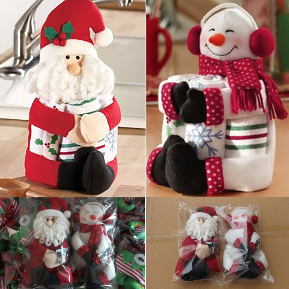 Chirstmas Santa Claus Enfeites de Natal Red Wine Bottle Cover Bags navidad Table Dinner Christmas Decoration high quality #LN