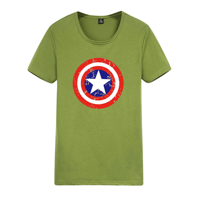 2016 New fashion CaptainAmerica Style Shield design men t-shirt the avengers vintage male tops short sleeves casual tee shirts(China (Mainland))