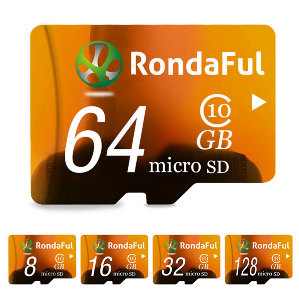 Rondaful Full Capacity 128GB Memory Card 8GB micro sd card 64GB TF card 32GB 16GB Class10 Microsd Card High Speed for MP3 Phones(China (Mainland))