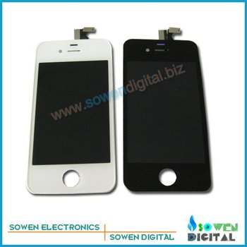 for iPhone 4 4G LCD Display+Touch Screen+Frame,100% Original LCD,10pcs/lot DHL or UPS EMS free shipping,best price
