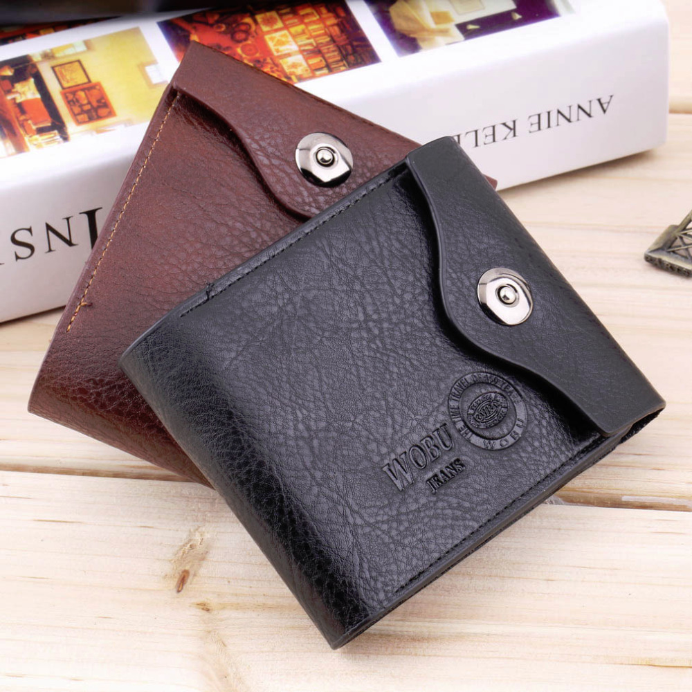 Bifold Wallet Men's PU Leather Credit/ID Card Holder Slim Purse Gift Hot Selling(China (Mainland))