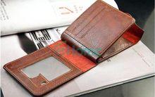 New Men Leather Bifold ID Cards Holder Coin Pocket Bag Slim Purse Wallet Fashion 60441