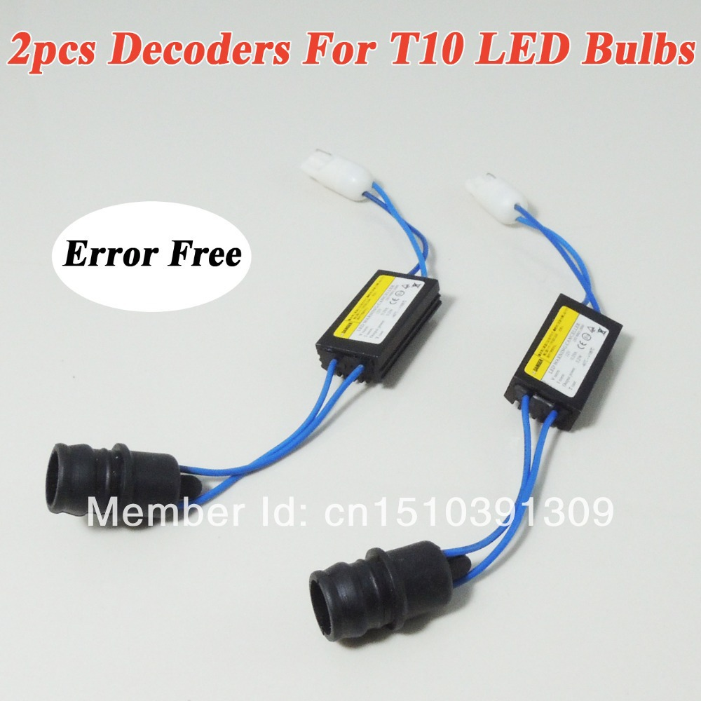 2pcs t10 canbus error free load resistor wiring led decoder warning error canceller for 168 194