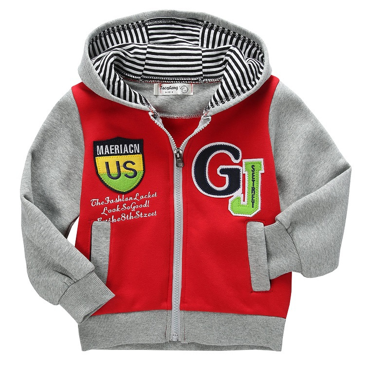 Children Jackets 2015 New Spring Autumn Printed Letters Hoody Brand Kids Boys Outerwear Coats 2-7 Years Baby Boys Clothing(China (Mainland))