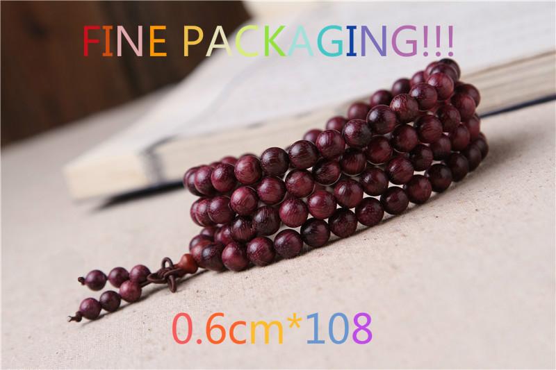 0.6cm*108 Hematoxylin Purple Auspicious Rosary Bracelets Jewelry Accessories Meditation Buddha Religion Bangle Wrist Ornament(China (Mainland))
