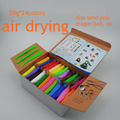 NEW 24colors Super light clay Air drying Soft Polymer Modelling Clay with tools Educational toy Special