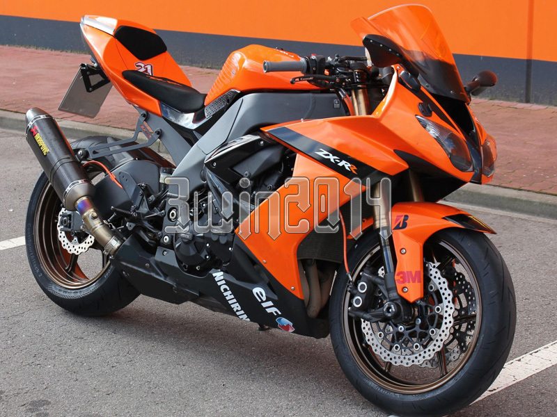 Injection Molded Fairing Fit ZX10R 2008 2009 2010 ZX-10R 08 09 10 Orange Black K18001 + 5 Gifts - 3WIN store