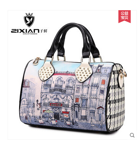 2015 new female Boston pillow bags cylinder bags handbags restoring ancient ways messenger bag(China (Mainland))